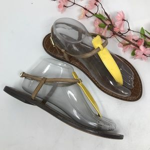Sam Edelman Gigi Yellow Thong Sandals Size 9 M